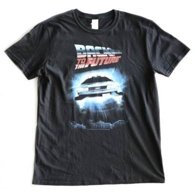 MOVIE TEE /  BACK TO THE FUTURE SHORT SLEEVE TEE (FRONT)- BLACK