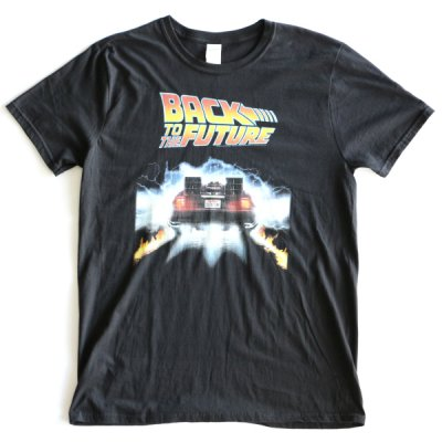 MOVIE TEE /  BACK TO THE FUTURE SHORT SLEEVE TEE(BACK) - BLACK