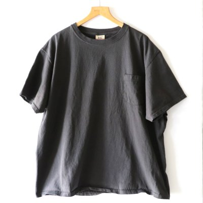 GOOD WEAR/ CREW NECK POCKET TEE BIG - USED BLACK