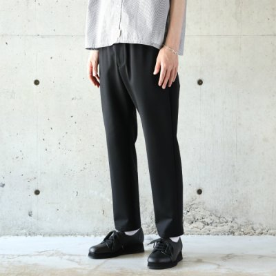 Curly / BLEECKER TP TROUSERS Plain - BLACK