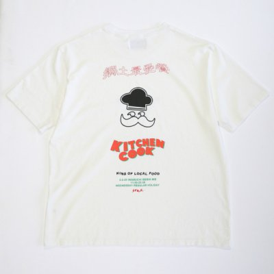 【予約受注】 KITCHEN COOK × Laugh & Be...  Charity T-Shirts - WHITE