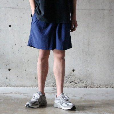 BURLAP OUTFITTER / TRACK SHORTS - NAVY