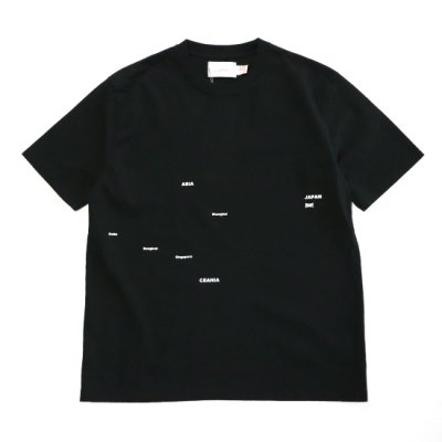Laugh & Be...  /25th & 20th Anniversary   【KNOCKOUT EXCLUSIVE】   AROUND THE WORLD TEE - BLACK