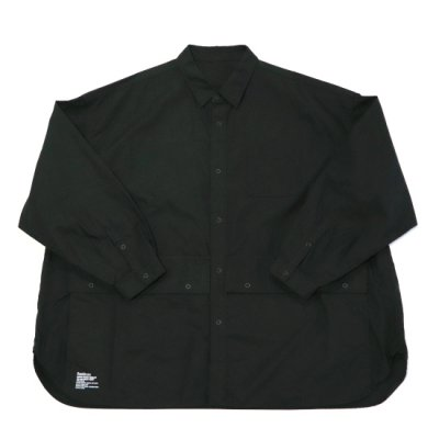 FreshService / Cargo Pocket Regular Collar Utility Shirt - BLACK