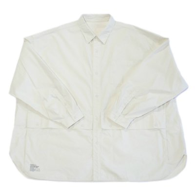 FreshService / Cargo Pocket Regular Collar Utility Shirt - IVORY
