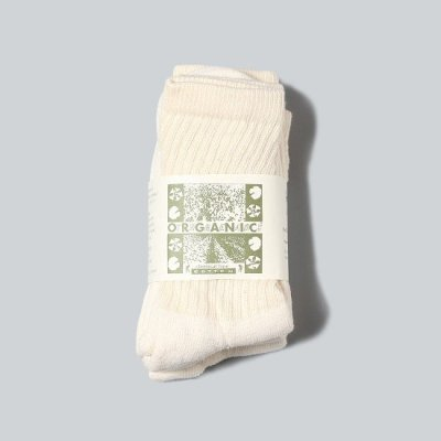 ORGANIC THREADS(オーガニックスレッド) / Regular Crew 3P Socks