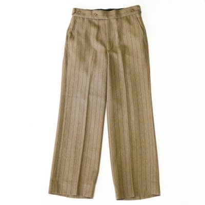 Needles / Side Tab Trousers - stripe poly cloth