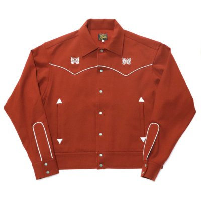 Needles / PIPING COWBOY JACKET - BRICK