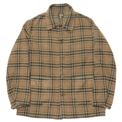 Needles / D.N. COVERALL (Plaid Tweed) - BROWN