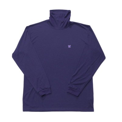 Needles / L/S Turtle Neck Tee(Poly Jersey) - Eggplant