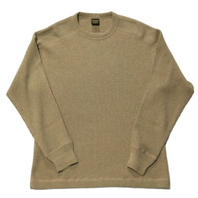 A Vontade (ア ボンタージ) / BD WAFFLE MIL CREW L/S - BROWN×AMBER MIX