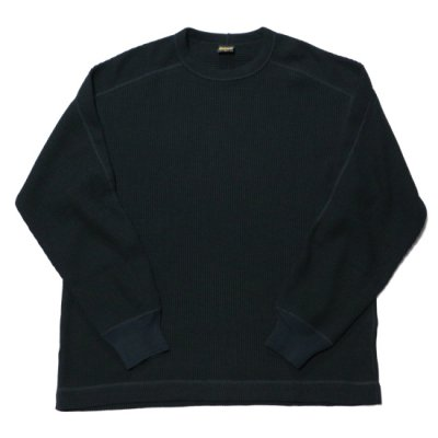 A Vontade (ア ボンタージ) / BD WAFFLE MIL CREW L/S - BLACK