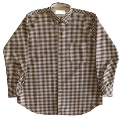 CURLY / FINSBURY RC SHIRTS - BEIGE CHECK
