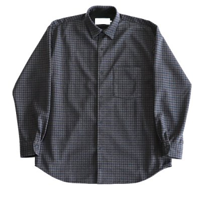 CURLY / FINSBURY RC SHIRTS - CHARCOAL CHECK