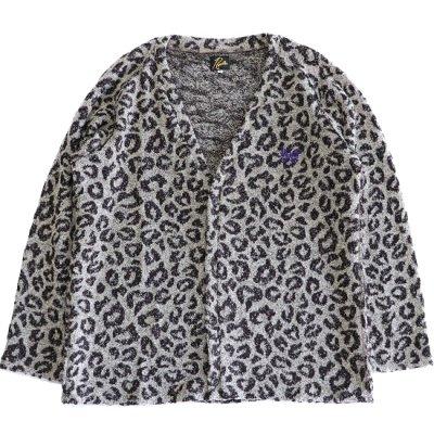 Needles / V Neck Cardigan - Leopard Knit Jq.
