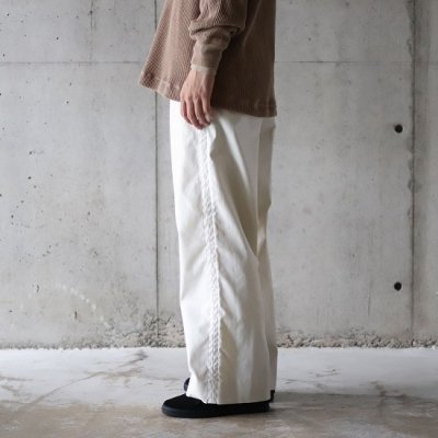 TRO USERS / WIDE TROUSERS (West Point) - ECRU