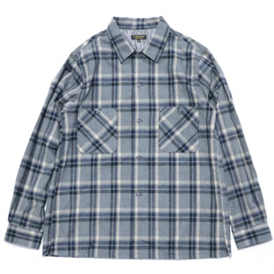 A VONTADE / Crazy Check Open L/S Shirts - GRY