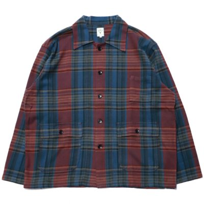 South2West8 / Hunting Shirt (Plaid Twill) - Navy/Red