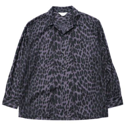 <img class='new_mark_img1' src='https://img.shop-pro.jp/img/new/icons57.gif' style='border:none;display:inline;margin:0px;padding:0px;width:auto;' />TOWN CRAFT / LEOPERD PRINT OPEN SHIRTS - CHARCOAL