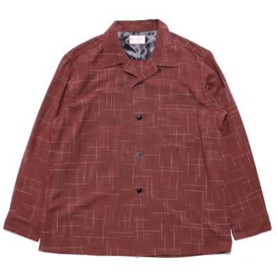 TOWN CRAFT / 50's OPEN SHIRTS - WINE
