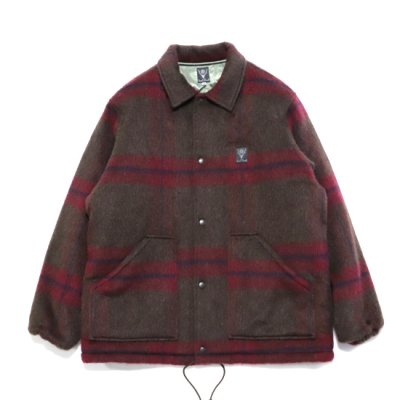 South2West8 / Coach Jacket (Shaggy Tweed) - BROWN