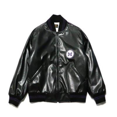 Needles / Award Jacket (Faux Leather) - BLACK