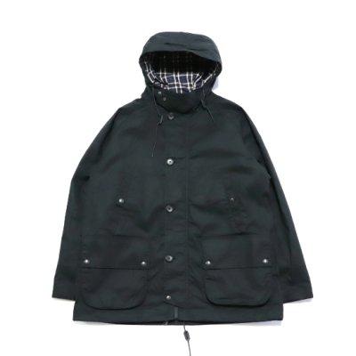 A VONTADE / British Field Hooded Jacket - BLACK