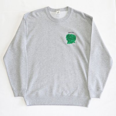 Niche (ニッチ) / Vegetable EMB Sweat (BROCCOLI)- GRY