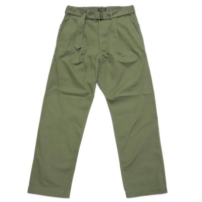 A Vontade(ア ボンタージ) / Mil. Cookman Trouses� W/Belt - OLIVE