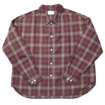 superNova / Big shirt (Check) - Maroon