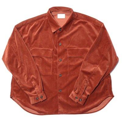superNova / CPO shirt jacket (Velour twill) - Orange