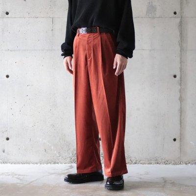 superNova / Officer pants - (Velour twill) - Orange