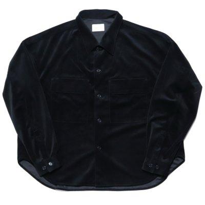 superNova (スーパーノバ) / CPO shirt jacket (Velour twill) - BLACK
