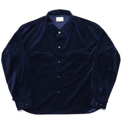 superNova (スーパーノバ) / CPO shirt jacket (Velour twill) - NAVY