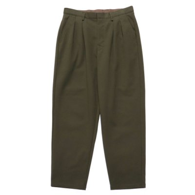 CURLY (カーリー) / BLEECKER WD TROUSERS (Plain) - OLIVE BROWN