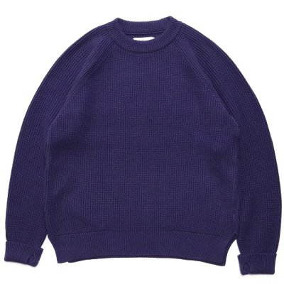 CURLY(カーリー)/ AZTEC CN SWEATER - BLUEBERRY
