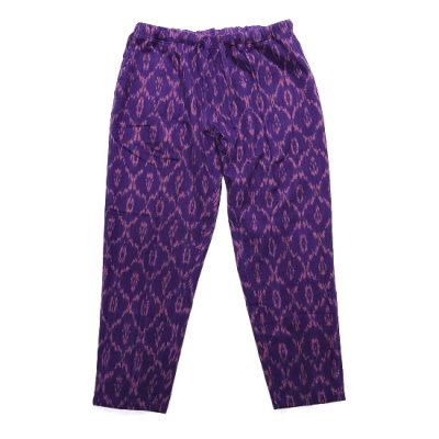 South2West8(サウスツーウエストエイト)/ String Slack Pant (Ikat Pattern) - PURPLE