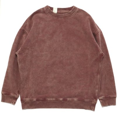 N.HOOLYWOOD / 1202-CS06-025 PIGMENT DYE SWEAT - BURGUNDY