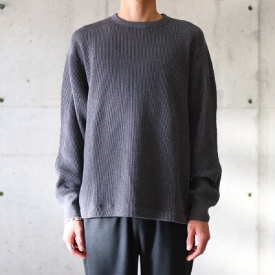 A Vontade (ア ボンタージ) / BD WAFFLE MIL CREW L/S - CG CHARCOAL