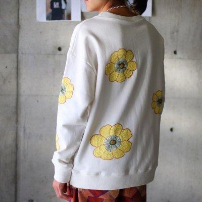 Niche. (ニッチ) / Flower Sweat (Big Flower) - WHITE