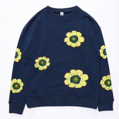Niche. (ニッチ) / Flower Sweat (Big Flower) - NAVY