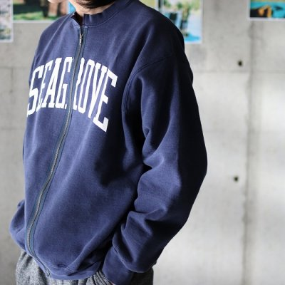 go-getter / Remake Zip Sweat 7 - NAVY