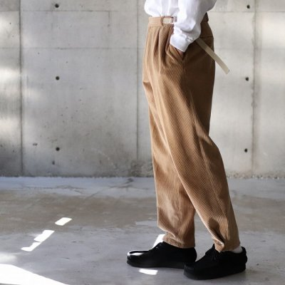 go-getter (ゴーゲッター) / Remake Corduroy Snap Pants 1 - Lt.BROWN