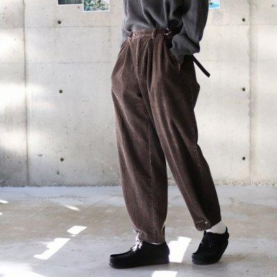 go-getter (ゴーゲッター) / Remake Corduroy Snap Pants 2 - D.BROWN