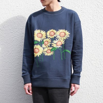 Niche. (ニッチ) / Flower Sweat (Sun Flower) - NAVY