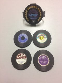 Old Vinyl Record Coaster 4-Pack (Chess, Cobra, Fire, Trumpet)