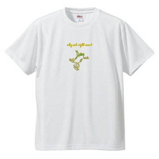 Frog Logo  'why not right now?'  T Shirts / White<img class='new_mark_img2' src='https://img.shop-pro.jp/img/new/icons5.gif' style='border:none;display:inline;margin:0px;padding:0px;width:auto;' />