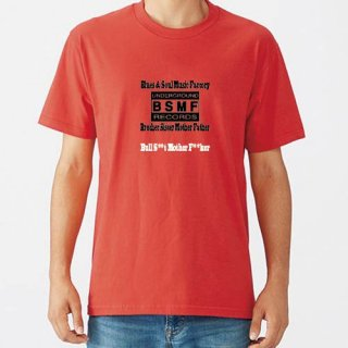 BSMF RECORDS Small Logo T Shirts / Red<img class='new_mark_img2' src='https://img.shop-pro.jp/img/new/icons8.gif' style='border:none;display:inline;margin:0px;padding:0px;width:auto;' />