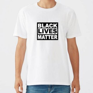 Black Lives Matter Logo T Shirts / White<img class='new_mark_img2' src='https://img.shop-pro.jp/img/new/icons8.gif' style='border:none;display:inline;margin:0px;padding:0px;width:auto;' />