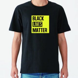 Black Lives Matter Yellow Logo T Shirts / Black<img class='new_mark_img2' src='https://img.shop-pro.jp/img/new/icons8.gif' style='border:none;display:inline;margin:0px;padding:0px;width:auto;' />